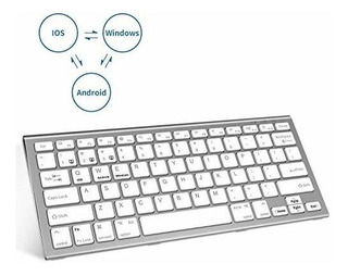 Teclado Bluetooth Fenifox Recargable Tres Sistemas Conmutaci