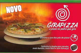 Kit Gira Pizza Pedra P/ Assar E Girar Pizza No Forno À Lenha