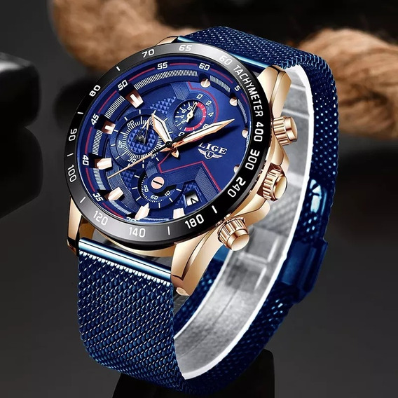 Relógio Lige Luxo Casual Militar Cinto À Prova D