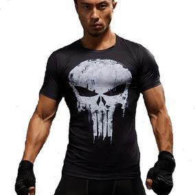 Playera Punisher Licra De Compresión Spandex Crossfit Gym