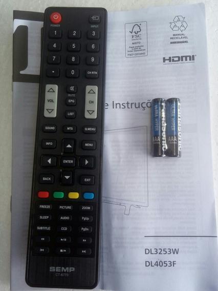 Controle Original Semp Ct6770 Com Manual E Pilha