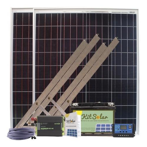Kit Solar Completo Con Paneles 2x80w Bateria 65a Energia K14