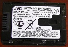 Bateria Para Filmadora Jvc Bn-vg107e - Rara, Original!!