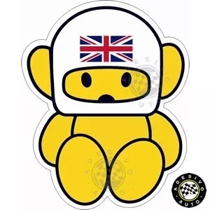Adesivo Hesketh Racing Bear James Hunt F1 Formula 1