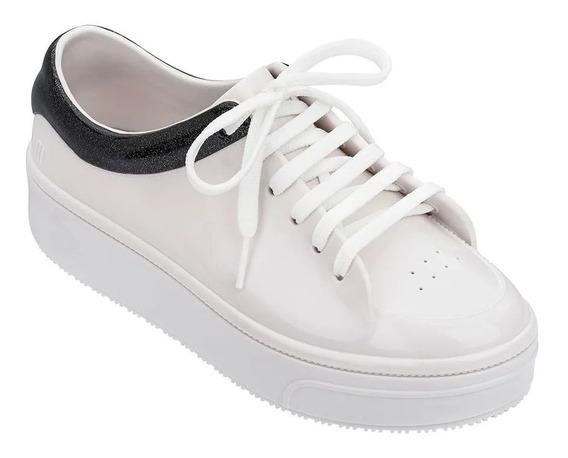 Tenis Melissa Mellow Branco E Preto 32683