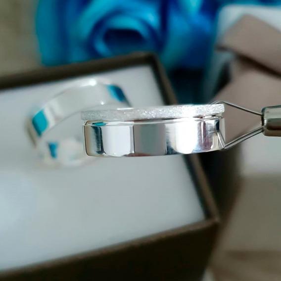 Par De Alianças De Prata Legítima 950 6mm + Gravação