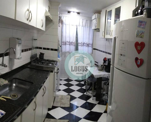 Imagem 1 de 14 de Apartamento De 55m² Composto Por 2 Dormitórios, À Venda Por R$ 212.000,00 - Jardim Alvorada - Santo André/sp - Ap1692