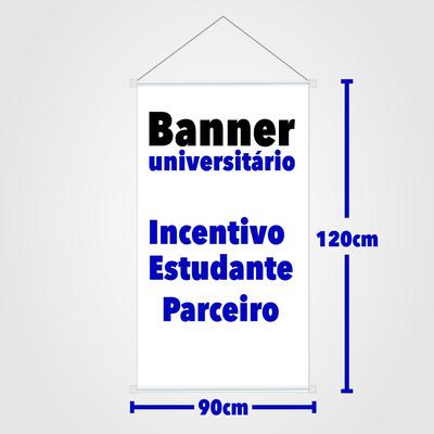 Banner 90x120cm - Lona Premium + Tinta Original Mimaki