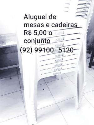 Aluguel De Mesas E Cadeiras Pra Eventos.