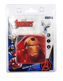 Bocina Iron Man Bluetooth Micro Sd Usb Recargable 5cm Marvel