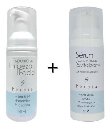 Imagem 1 de 2 de Kit Facial Orgânico E Vegano Herbia Limpeza + Sérum Facial