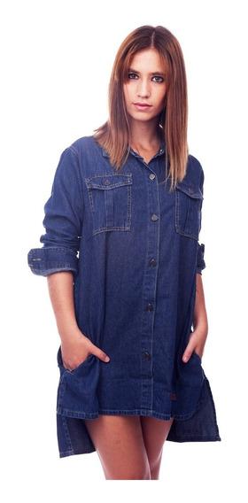 Customs Ba Camisola De Jean Camisa Vestidos Mujer Camisas Ga