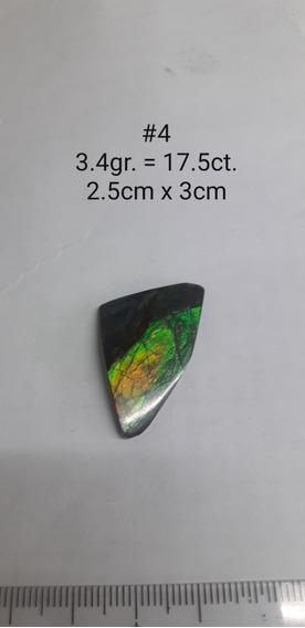 Ammolita 17.5ct Piedra 100% Natural De Canada Ammolite
