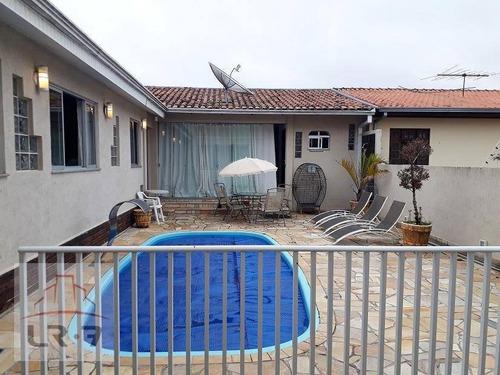 Imagem 1 de 30 de Casa Com Piscina, 4 Dormitórios, Estuda Permuta,  À Venda, 303 M² Por R$ 935.000 - Guabirotuba - Curitiba/pr - Ca0096
