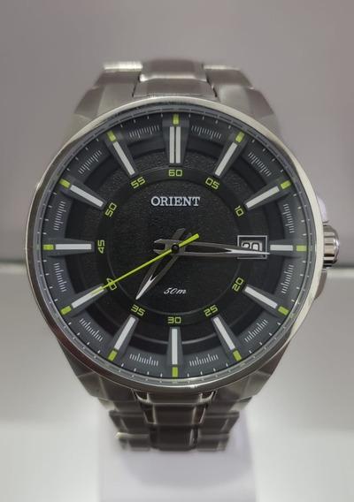 Relógio Masculino Orient Aço Fundo Preto Mbss1313 Pfsx