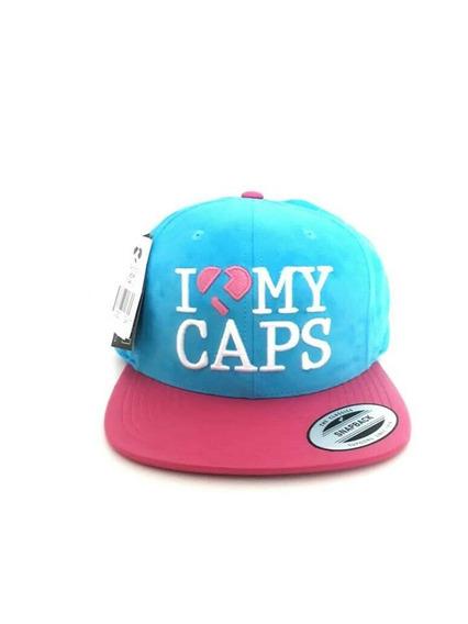 Boné True Heart Feminino Aba Reta Tp Camurça I Love My Caps