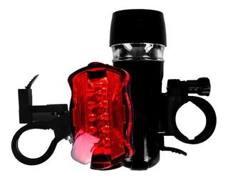 Kit Lanterna Dianteira Farol Traseiro Para Bike Acte 5 Leds