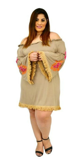 Vestido Bordado, Talla Extra #858