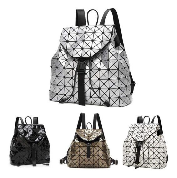 Bolsa Backpack Geométrica Estilo Issey Miyake Bao Env Gratis