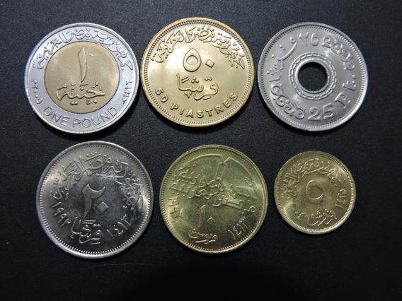 Egipto Set De 6 Monedas