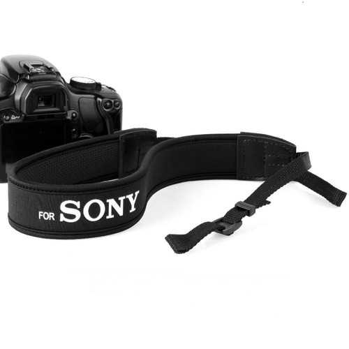 Alça De Pescoço Neck Strap Câmera Dslr Neoprene Para Sony