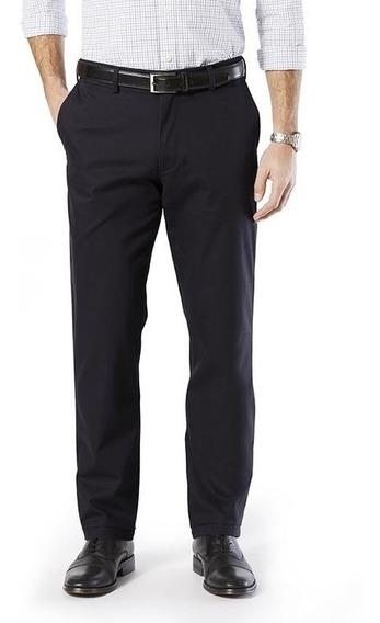 Oferta Pantalón Dockers® Hombre Khaki Azul / Negro Slim Stre