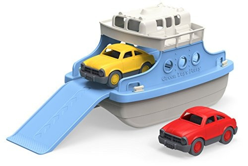 Ferry De Juguetes Verdes Con Mini Carros Juguete De Bañera,