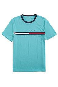 Camiseta Tommy Hilfiger Logo Enamel Blue Heather