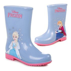 780b58f2222 Botas De Lluvia Grendene Elsa Frozen Niñas Impermeables