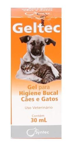 Gel Bucal Geltec Higiene Para Cães E Gatos Syntec 30 Ml