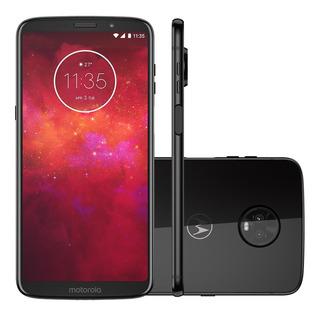 Motorola Moto Z3 Play 128gb - Ônix - Produto Usado!