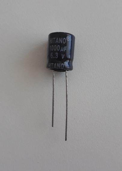 10 Capacitor Eletrolitico 1000 Uf X 6.3 Volts 105º Mb