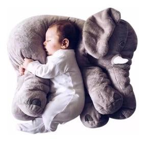 Almofada De Elefante Cinza Travesseiro De Pelucia