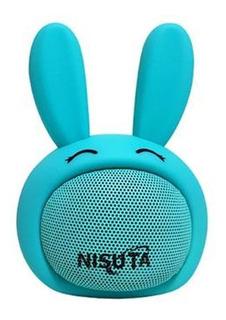 Nisuta Parlante Portatil Bluetooth Conejo Turquesa Ns-pa81bc