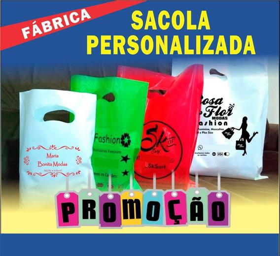 Sacola Plástica Personalizada 30x40 Espessura 0,12(grossa) - 500 Sacolas Promoção
