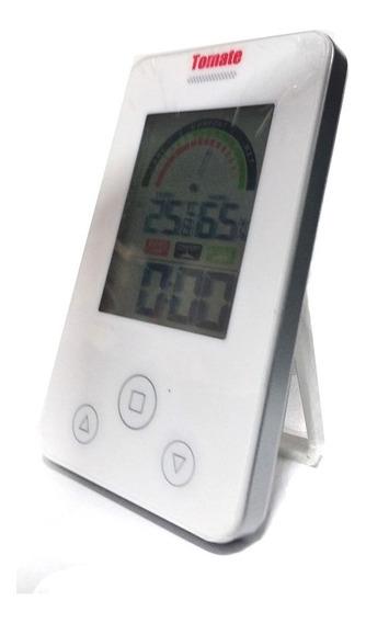 Relógio Termo Higrômetro Temperatura E Umidade Do Ambiente