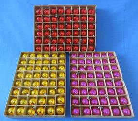 03 Caixas Bolas De Natal Em Vidro - Década 70 - 144 Bolas