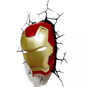 Marvel Luminária 3d Light Fx Máscara Do Homem De Ferro