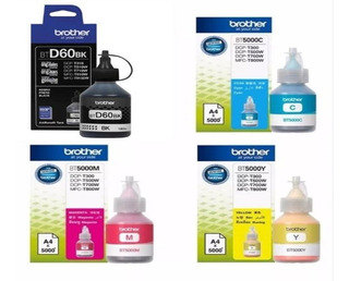 Tinta Brother Btd60bk Bt5001 Imp T510 T710 Combo Orig