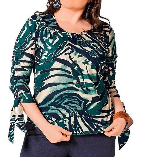 Blusa Casual Dama Gvd P-20 Azul-verde 36-42 091-418 T4*