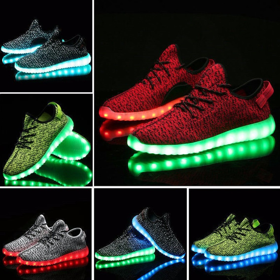Zapatos Tenis Hombre Led Luces Luminosos Sportswear Colores