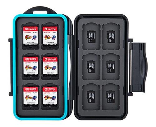 Imagen 1 de 7 de Estuche Case Porta Cartuchos 12 Juegos Nintendo Switch 12msd