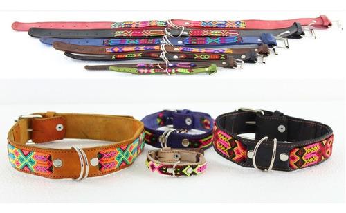 Collar Para Perro/artesanal 6pzs 40cm 45cm