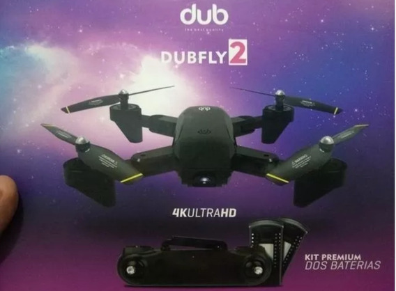 Drone Dubfly2 Câmera 4k Ultra Hd Kit Com 2 Baterias