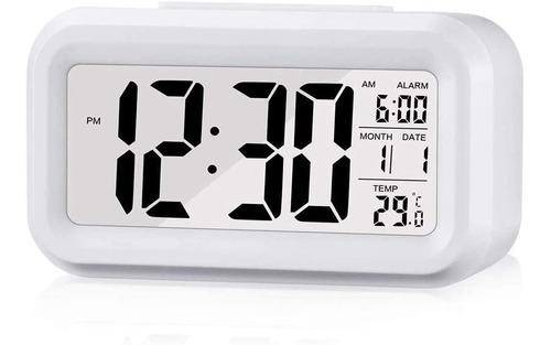 Imagen 1 de 5 de Reloj Despertador Digital  Con Pantalla Lcd