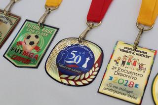 100 Medallas Metal Lámina Resina Deportivas Premiación