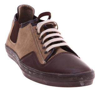 Tenis Choclo Casual Café Canvas Via Urbana Fashion C60- C61