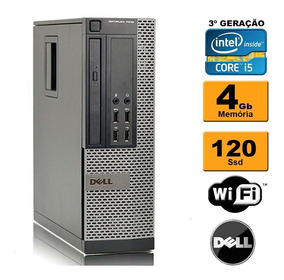 Pc Cpu Dell Mini Optiplex 7010 I5 3ª Ger 4gb Ssd 120 Rw Wifi