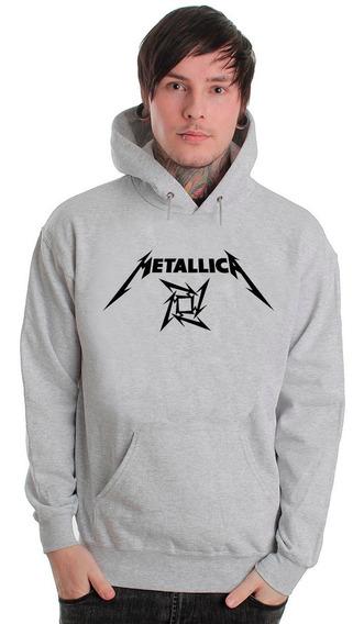 Blusa Metallica Moletom Canguru Com Capuz!!!!