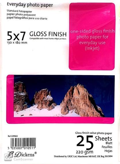 Papel Fotografico Para Impresora Inkjet 13x18 220 Grs